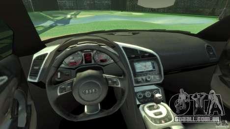 Audi R8 Spyder v10 [EPM] para GTA 4 vista de volta
