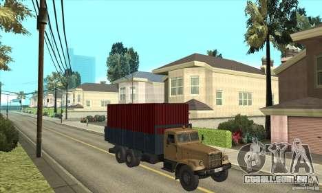 KrAZ-257 para GTA San Andreas vista traseira
