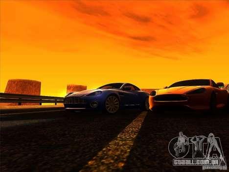 Aston Martin V12 Vanquish V1.0 para GTA San Andreas vista superior