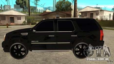 Cadillac Escalade Unique Autosport para GTA San Andreas esquerda vista