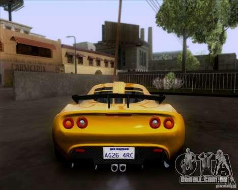 Lotus Exige para GTA San Andreas vista interior