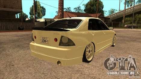 Toyota Altezza RS200 JDM Style para GTA San Andreas vista direita