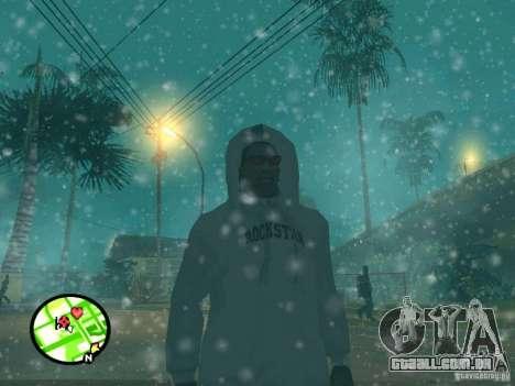 Queda de neve para GTA San Andreas quinto tela