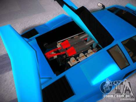 Lamborghini Countach LP5000 para GTA San Andreas vista interior