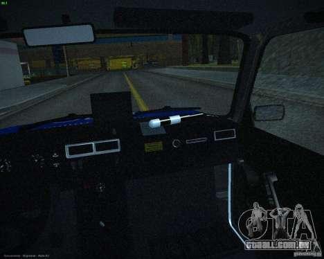 Polícia de 2107 VAZ para vista lateral GTA San Andreas