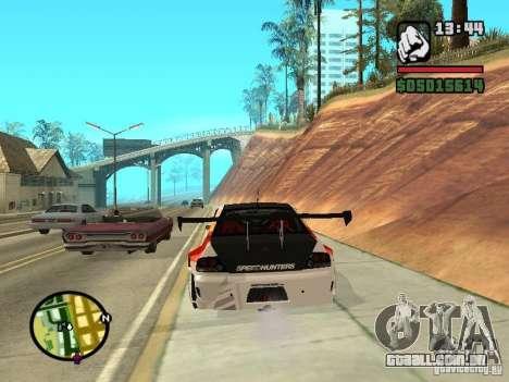 Mitsubishi Lancer Evo IX SpeedHunters Edition para GTA San Andreas traseira esquerda vista