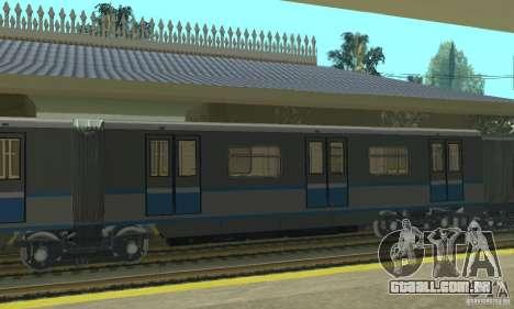Rusich 4 trem para GTA San Andreas traseira esquerda vista
