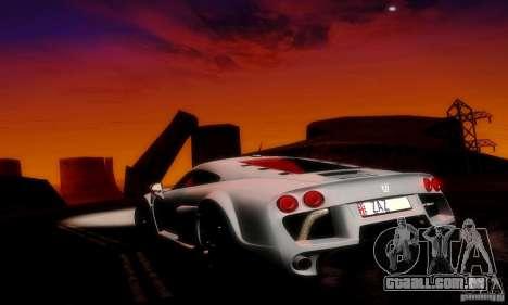 Noble M600 Final para GTA San Andreas vista inferior