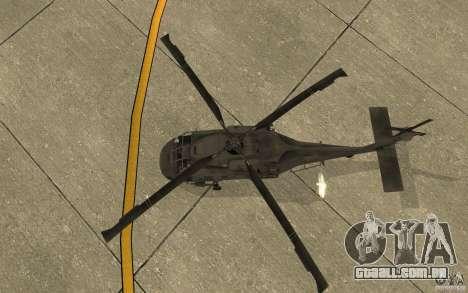 UH-60 Black Hawk para GTA San Andreas vista traseira