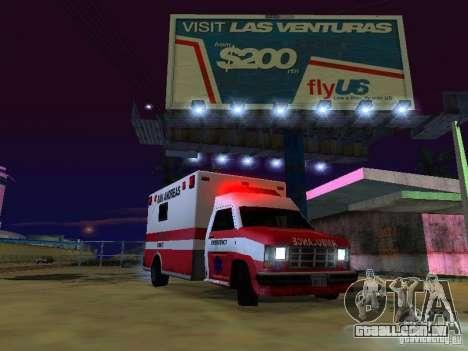 Ambulance 1987 San Andreas para GTA San Andreas vista direita
