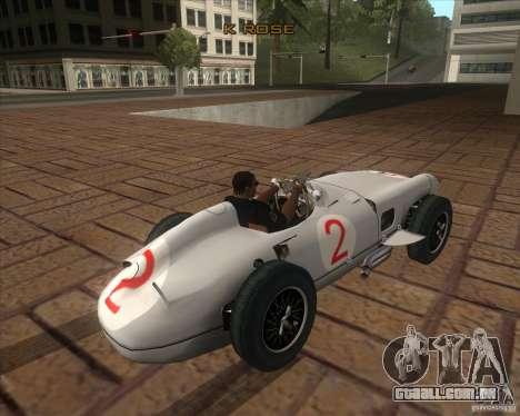 Daimler-Benz AG Juan Manuel Fangio para GTA San Andreas traseira esquerda vista