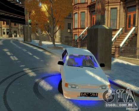 ВАЗ 2114 para GTA 4 vista de volta