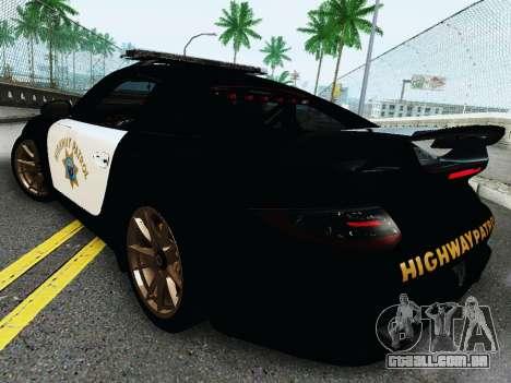 Porsche 911 GT2 RS (997) Police para GTA San Andreas vista direita