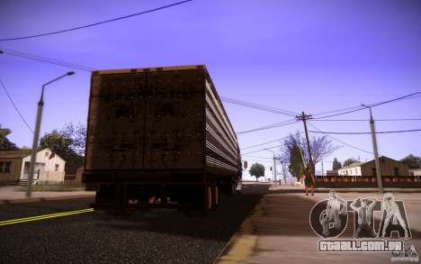 Box Trailer para GTA San Andreas esquerda vista