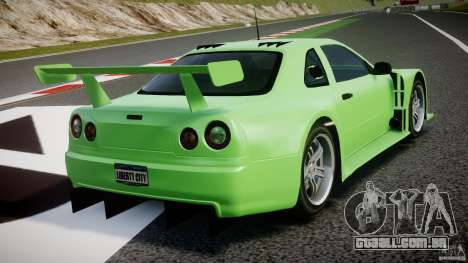 Nissan Skyline R34 v1.0 para GTA 4 vista inferior