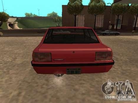 Vincent padrão para GTA San Andreas traseira esquerda vista
