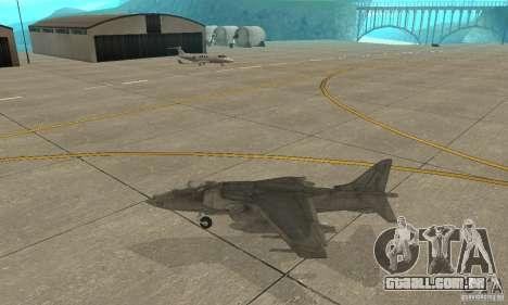 AV-8 Harrier para GTA San Andreas esquerda vista