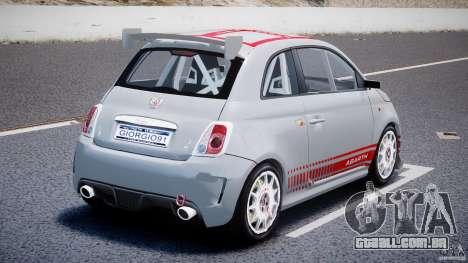 Fiat 500 Abarth para GTA 4 traseira esquerda vista