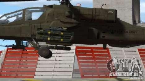 AH-64D Longbow Apache v1.0 para GTA 4 vista de volta