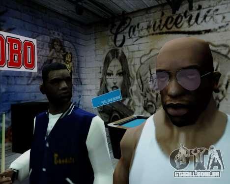 Óculos de aviador rosa para GTA San Andreas terceira tela