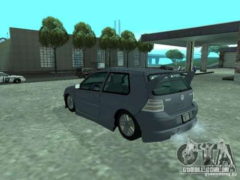Volkswagen Golf IV para GTA San Andreas vista inferior