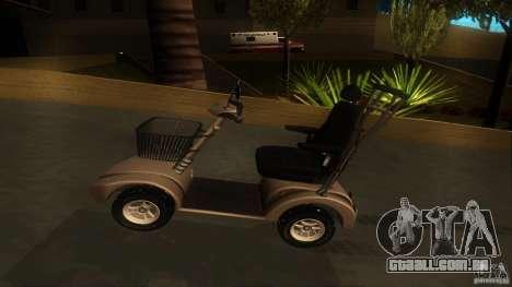 Elektroscooter - Speedy para GTA San Andreas vista traseira