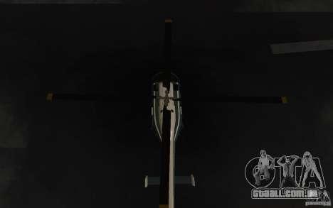 GTA IV Police Maverick para GTA San Andreas vista interior