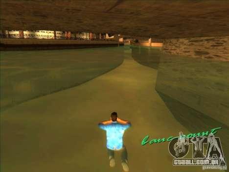Nadando com a nova animação para GTA Vice City terceira tela