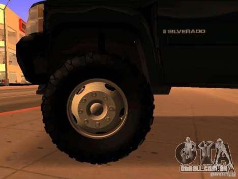 Chevrolet Silverado HD 3500 2012 para GTA San Andreas vista direita