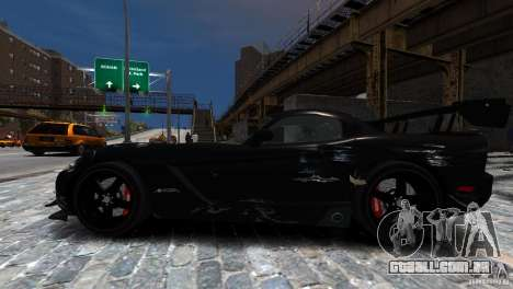 Dodge Viper SRT-10 ACR 2009 para GTA 4 vista lateral