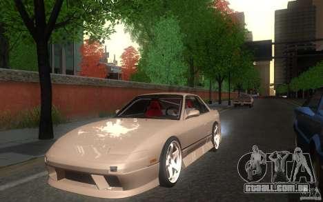 Nissan Silvia S13 Onevia para GTA San Andreas traseira esquerda vista