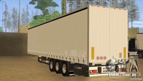 SchmitZ Cargobull para GTA San Andreas traseira esquerda vista