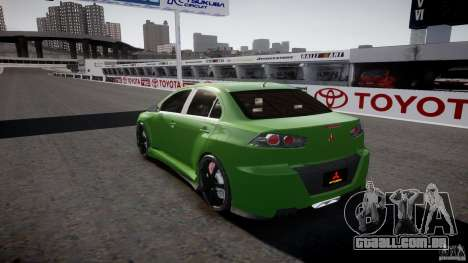 Mitsubishi Lancer Evolution X Tuning para GTA 4 vista inferior