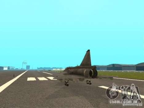 Saab JA-37 Viggen para GTA San Andreas vista direita