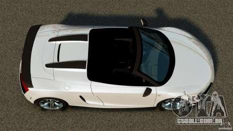 Audi R8 GT Spyder 2012 para GTA 4 vista direita