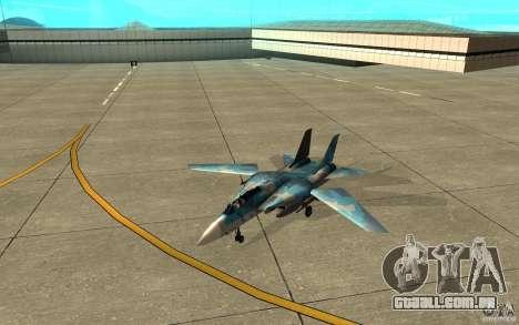F-14 Tomcat Blue Camo Skin para GTA San Andreas esquerda vista