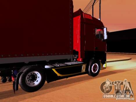 Mercedes Benz Actros MP4 para GTA San Andreas interior
