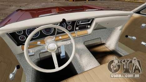 Chevrolet Impala 1967 para GTA 4 vista superior