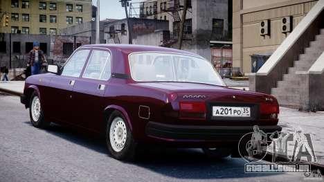 GAZ 3110 Volga para GTA 4 traseira esquerda vista