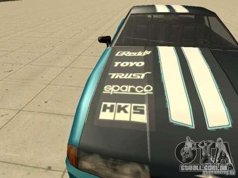 Elegy Forsage para GTA San Andreas vista interior