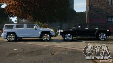 Hummer H3 2005 Chrome Final para GTA 4 vista interior