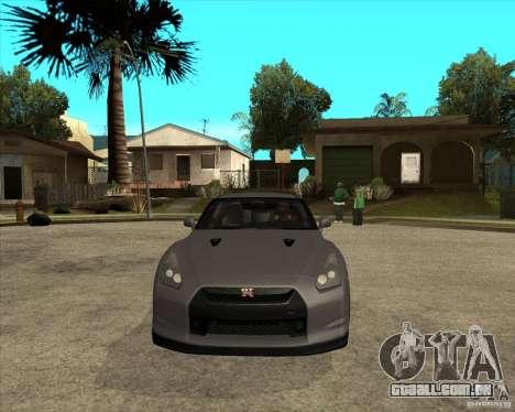 2008 Nissan GTR R35 para GTA San Andreas vista traseira