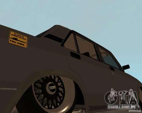 JDM VAZ 2107 para GTA San Andreas traseira esquerda vista