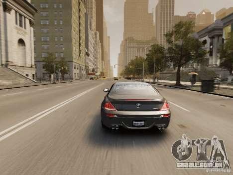 BMW M6 2010 para GTA 4 vista de volta