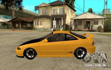 Honda Integra Spoon Version para GTA San Andreas esquerda vista