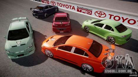 Mitsubishi Lancer Evolution X Tuning para GTA 4 motor