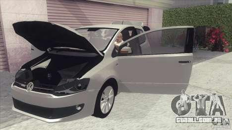 Volkswagen Fox 2013 para GTA San Andreas traseira esquerda vista