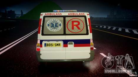 Ford Transit Polish Ambulance [ELS] para GTA 4 interior