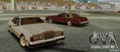 Virgo Continental para GTA San Andreas traseira esquerda vista