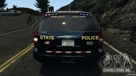 Chevrolet Tahoe Marked Unit [ELS] para GTA 4 interior